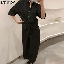 Vonda летнее Открытое платье с цветочным рисунком 2021 для женщин