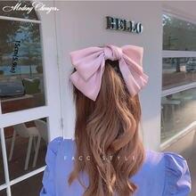 Высококачественные большие шелковые заколки для волос с бантом