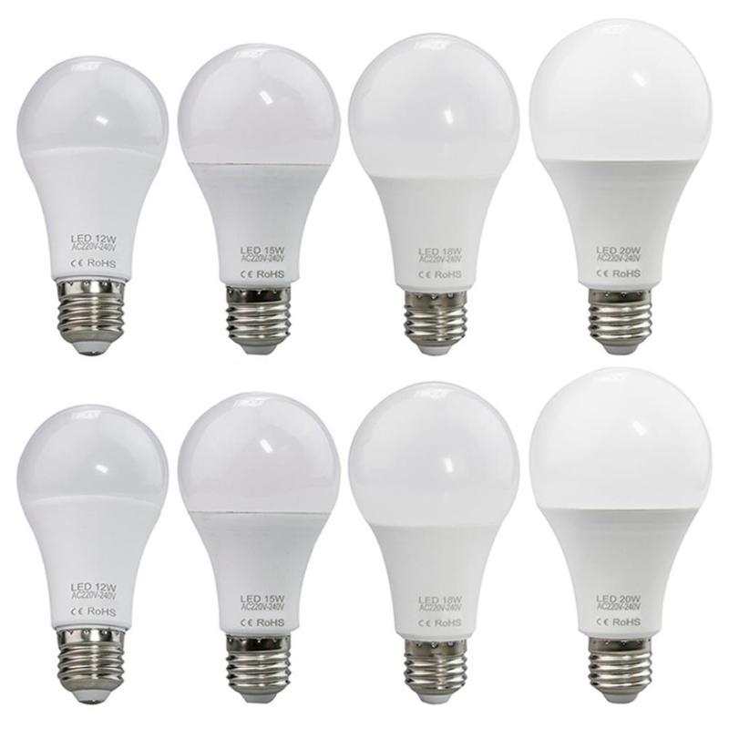 E27 LED Bulb 220-240V 12W 15W 18W 20W Energy Saving Light Indoor Lighting 2019 New 2700-7000K Low Power Consumption Bulbs