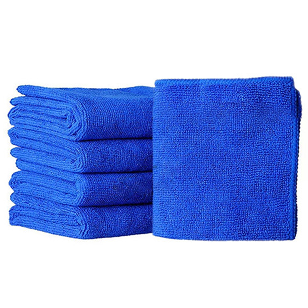 1/5pcs Car Polishing Bath Towels Towel Soft Cloths Hotel Home Cleaning Quick Dry Microfiber Washing Cloth Auto Cleaning 25x25cm