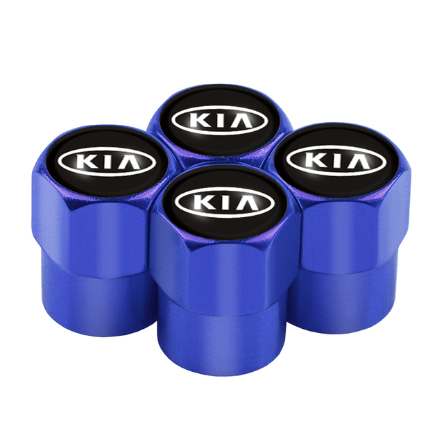 AllRing 4PCS Neue Rad Reifen Teile Ventil Stem Caps Abdeckung F/ür Kia Ceed Rio Sportage R K3 K4 K5 Ceed Sorento Cerato Optima Zubeh/ör Blau