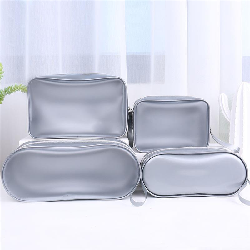 Waterproof PVC Bath Cosmetic Bag Women Make Up Case Travel Zipper Makeup Beauty Wash Organizer Toiletry Storage Kit