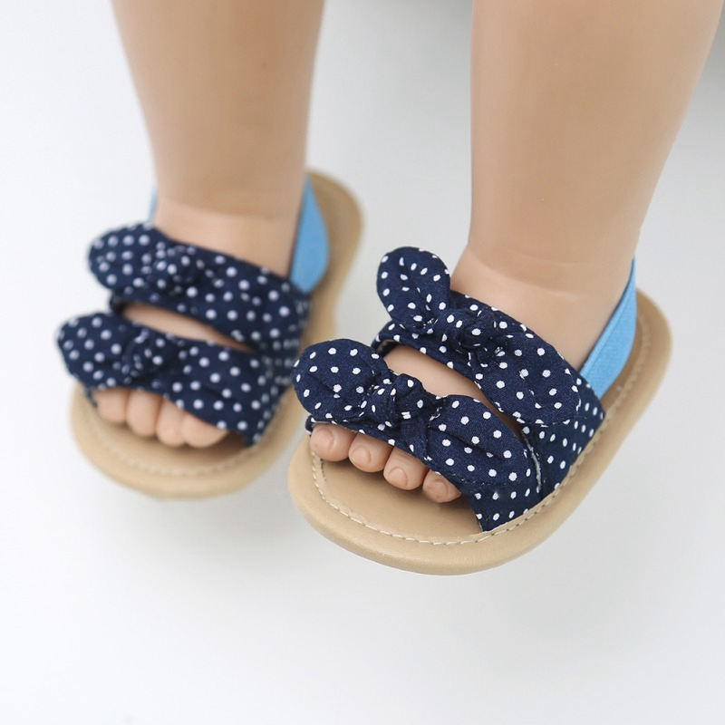 Summer Baby Girls Sweet Breathable Anti-Slip Bow Shoes Sandals Toddler Soft Soled Non-slip Sandals