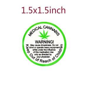 Image 2 - Pegatinas de advertencia de 2020 pulgadas, 1,5 Uds./rollo, etiquetas adhesivas, etiqueta de advertencia médica para advertencia e indicación, nueva tendencia de 500