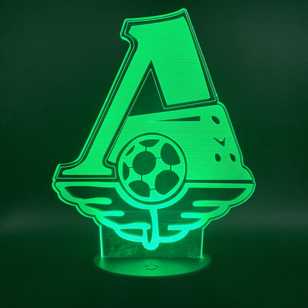 Nightlight FC Lokomotiv Moscow Football Club 3D LED Lamp For Office Home Room Decoration Child Boys Baby Table Lamp Gift