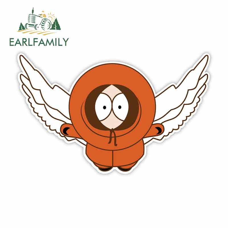 EARLFAMILY 13cm X 7.9cm For South Park Kenny Wings Car Stickers And Decals Repair Creative Stickers Suitable For GTR EVO SX