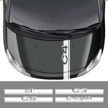 Adesivo de carro para citroen c4 cacto picasso aircross c5 c3 C3-XR C-ELYSEE c1 c2 c4l c6 c8 vts acessórios do carro capô decalques