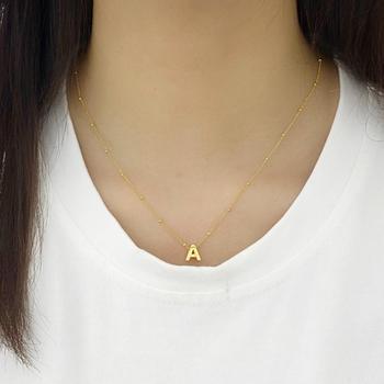 Collar Moderno con forma de corazón para mujer, Gargantilla con letras, cadena,...