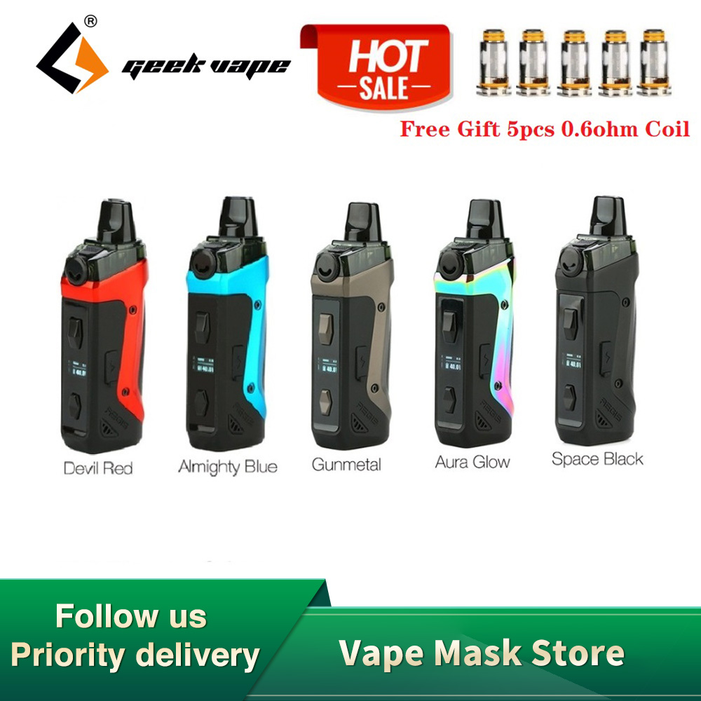 Free Gift!!! Geekvape Aegis Boost Pod Vape Kit 1500mah Built-in Battery & 3.7ml Pod  MTL & DTL E-cigarette Vape Kit Vs Vinci Mod