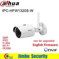Dahua 3MP IP Camera IPC HFW1320S W WIFI IR30M IP67 3MP IR Mini Bullet Wi Fi Network Camera Multiple network monitoring