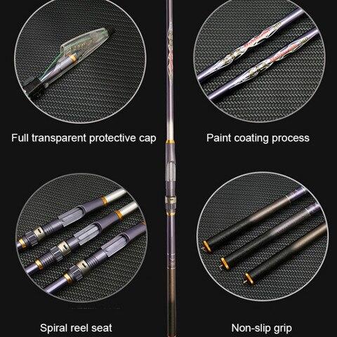 superhard vara de pesca telescopica forte portatil