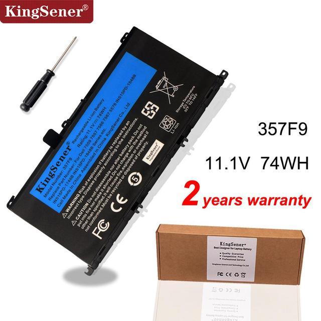 KingSener batterie 11.1V, 74wh 357F9 pour Dell Inspiron 15  7000, 7559, 7557, 7566, 7567, 5576, INS15PD 1548B