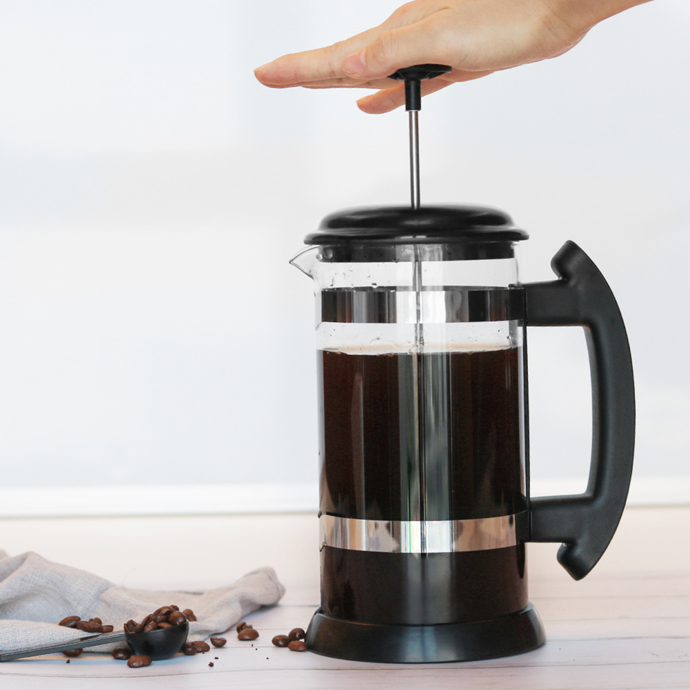 French Press Coffee Maker Percolator Filter Kettle 1000ml Apartment Home Coffee Accessories Coffee Tea Pouring Pot