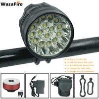 WasaFire 40000 Lumen 16 * T6 LEDs lampe de lumière de vélo avant phare nuit équitation vélo lampe de poche + USB vélo arrière feux arrière