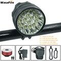WasaFire 40000 lúmenes 16 * T6 LED lámpara de luz de bicicleta faro delantero Luz de Ciclismo de noche + luces traseras de bicicleta USB