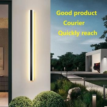 Zewnętrzna ściana światło LED wodoodporna ściana lampa IP65 aluminiowa długa zewnętrzna ściana światło dla Garden Villa światło werandy oprawa tanie i dobre opinie HONG DE LI CN (pochodzenie) ROHS Z certyfikatem VDE NONE iron HDL-FA-009 110-240 v Lampy ścienne 3years Z aluminium Nowoczesne