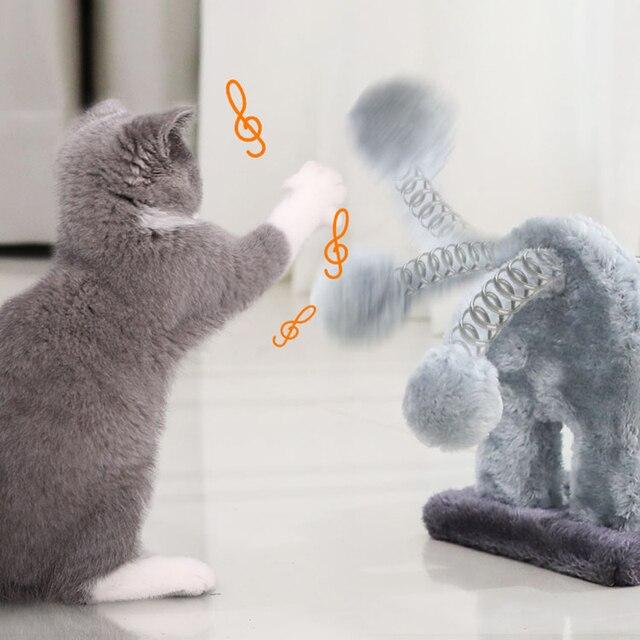 HOOPET Cat Toy Climbing Furniture Cat Scratching Wood Cute Elephant Lion Shape Interactive Toys Kitten Climbing Frame 3