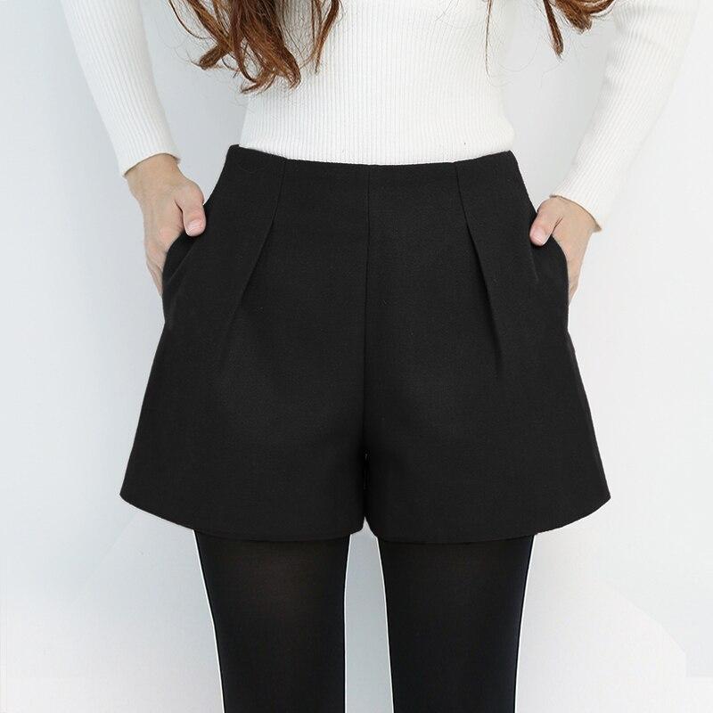 Women Shorts Zipper Loose Short Pants  Pockets Ladies  Short Nts