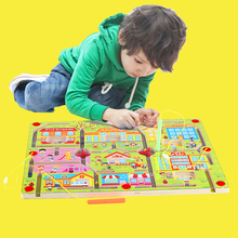 Space City Magnetic Maze Board Running Beads Puzzle Game Int