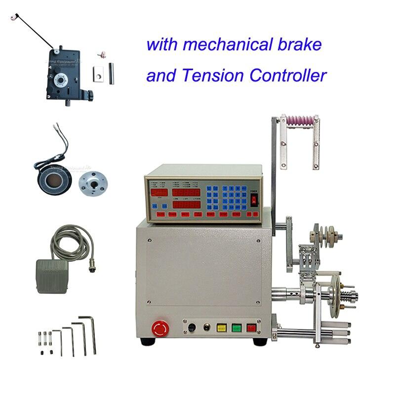 LY 810 automatique 0.03-1.2mm enrouleur bobine bobineuse avec frein mécanique et amortissement tendeur Tension contrôleur