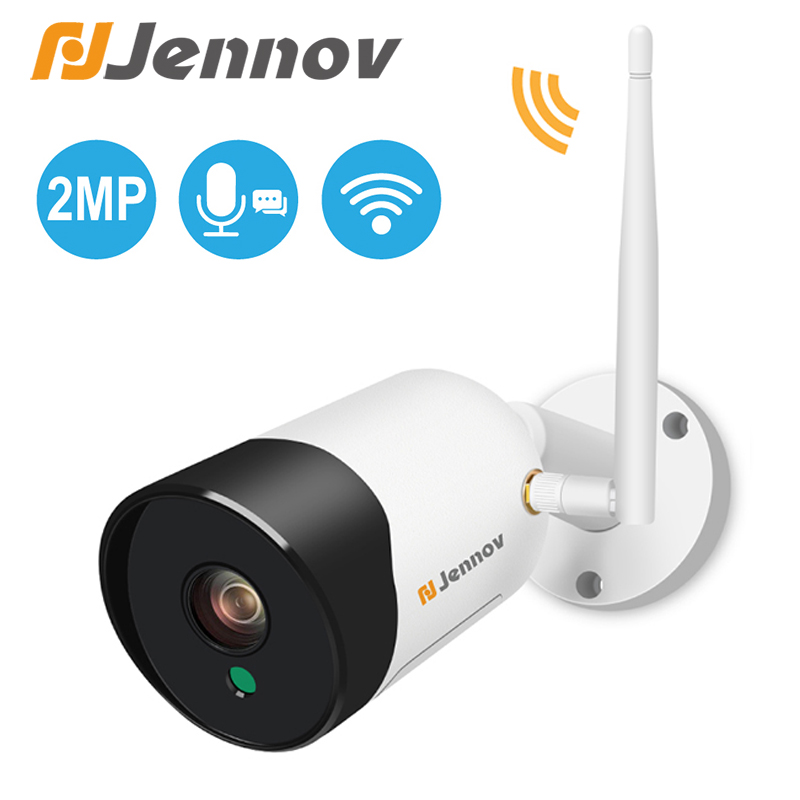 Jennov 1080P Wireless Wifi IP Camera Audio Record IR Night Vision P2P Onvif SD Card CCTV Outdoor Video Surveillance Waterproof