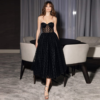 Verngo Black Evening Dress Short 2020 Backless Prom Gown Abiye Gece Elbisesi Stain Formal Party