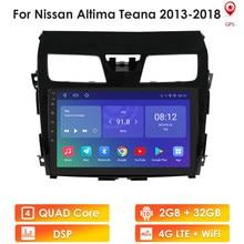Autoradio Android 10, 2 go/32 go, 4G/LTE, Carplay, GPS, lecteur multimédia, quad core, pour voiture Nissan Teana, Altima (2013, 2014, 2015, 2016)