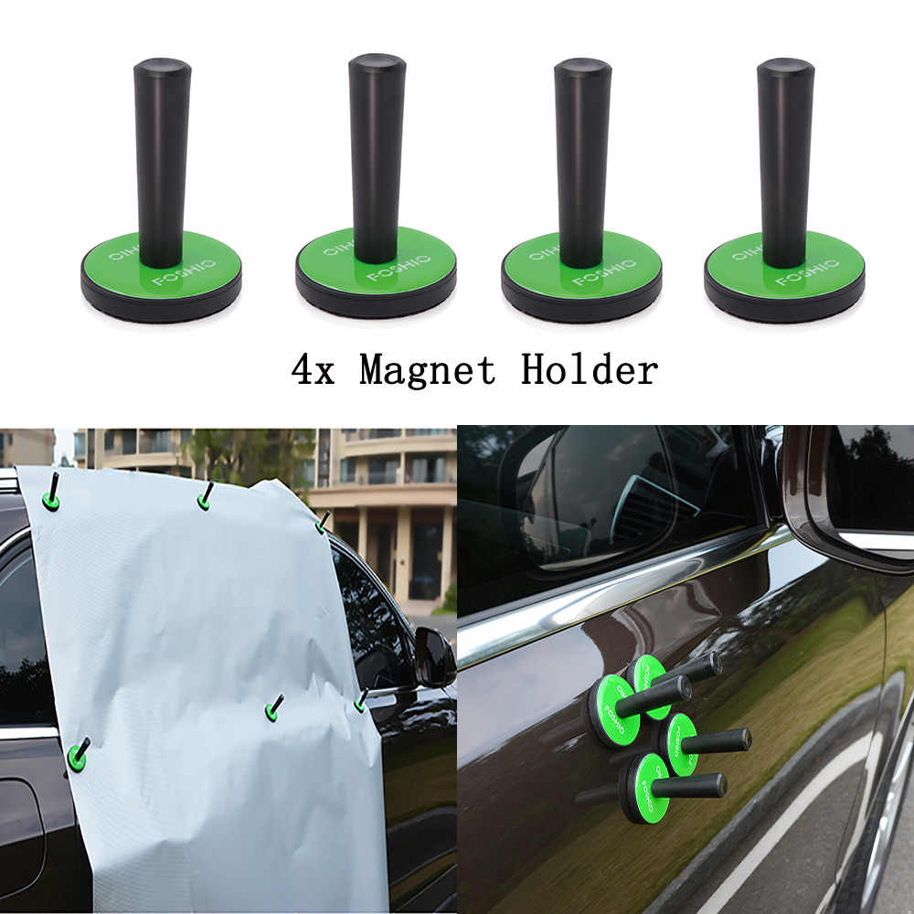 FOSHIO 4 sztuk Vinyl samochodów Auto Wrap magnesy posiadacze folia zaciemniająca okna z włókna węglowego folia dekoracyjna samochodów naklejki owijania Fixer akcesoria