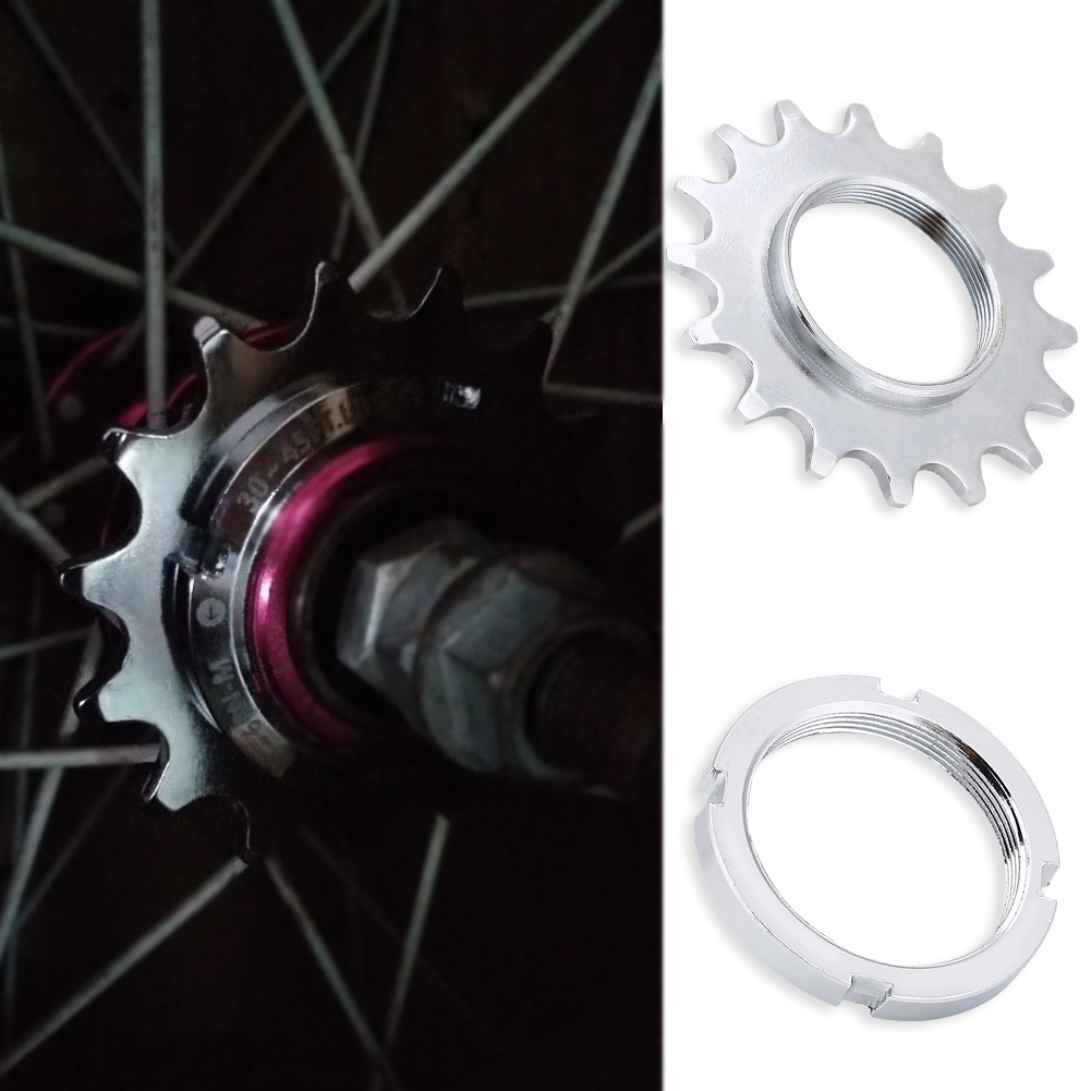 High Quality 13T/14T/15T/16T Teeth Single Speed Bicycle Freewheel Flywheel <font><b>Sprocket</b></font> Gear Bicycle Accessories Durable Steel image