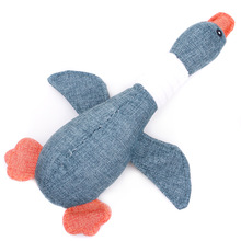 Cute Pet Dog Cat Funny Wild Goose Durability Plush Toys Squeak Chew Sound Toy Fit for All Pets Duck Pig