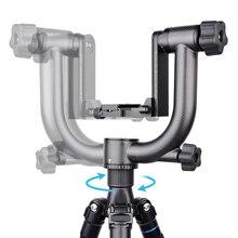 حامل ثلاثي القوائم احترافي شديد التحمل من ألياف الكربون, حامل ثلاثي القوائم بانورامي 360 درجة من ألياف الكربون مع لوحة سريعة التحرير 1/4 بوصة لكاميرات DSLR