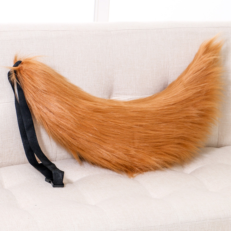 Image 5 - Halloween Adjustable Belt Fox Tail Cat Props Fur Tails Furry Cosplay Prop Carnival PartyCostume Props   -