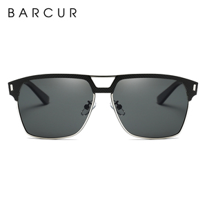 Image 4 - BARCUR Black High Quality Polarized Sunglasses Men Driving Sun Glasses for Man Shades Eyewear With Box