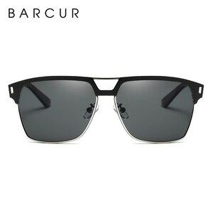 Image 4 - BARCUR czarne wysokiej jakości okulary polaryzacyjne mężczyźni jazdy okulary przeciwsłoneczne dla człowieka odcienie okulary z pudełkiem