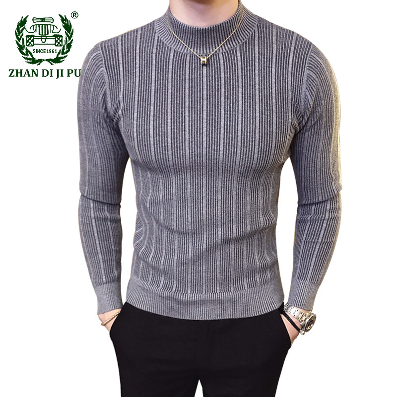 2020 Mens Sweater Brand Autumn Casual Pullover Men Solid Color Comfortable Male Christmas Sweater Round Neck Slim Fit Pull Homme