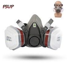 A máscara de gás do respirador da meia máscara protetora protege a poeira pm2.5 para o filtro de trabalho da segurança que solda a anti poluição protetora, pintura