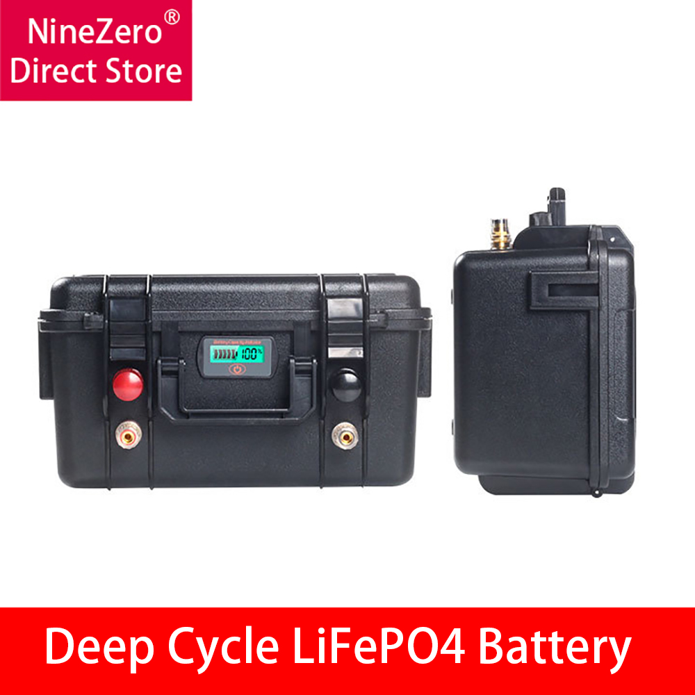 <font><b>12V</b></font> <font><b>100Ah</b></font> LiFePO4 <font><b>Battery</b></font> 200Ah Rechargeable <font><b>Lithium</b></font> Iron Phosphate <font><b>Battery</b></font> Packs Deep Cycle Build-in BMS For Golf Cart Solar... image