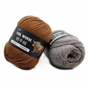 Image 5 - 5pcs 야크 양모 뜨개질을위한 좋은 소모사 혼합 된 크로 셰 뜨개질 뜨개질 스웨터 스카프 500/lot