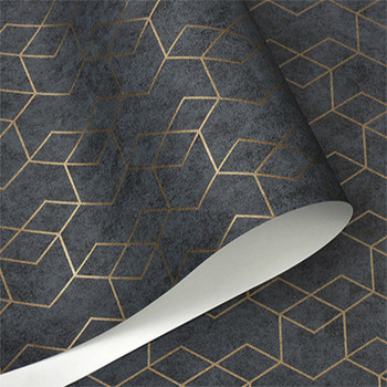 Dark Grey Luxury Geometric Wallpaper Roll Black Gray Wall Paper Modern Design Bedroom Living Room Background Home Wall Decor paysota vintage wood grain grey wallpaper bedroom living room sofa background wall paper roll