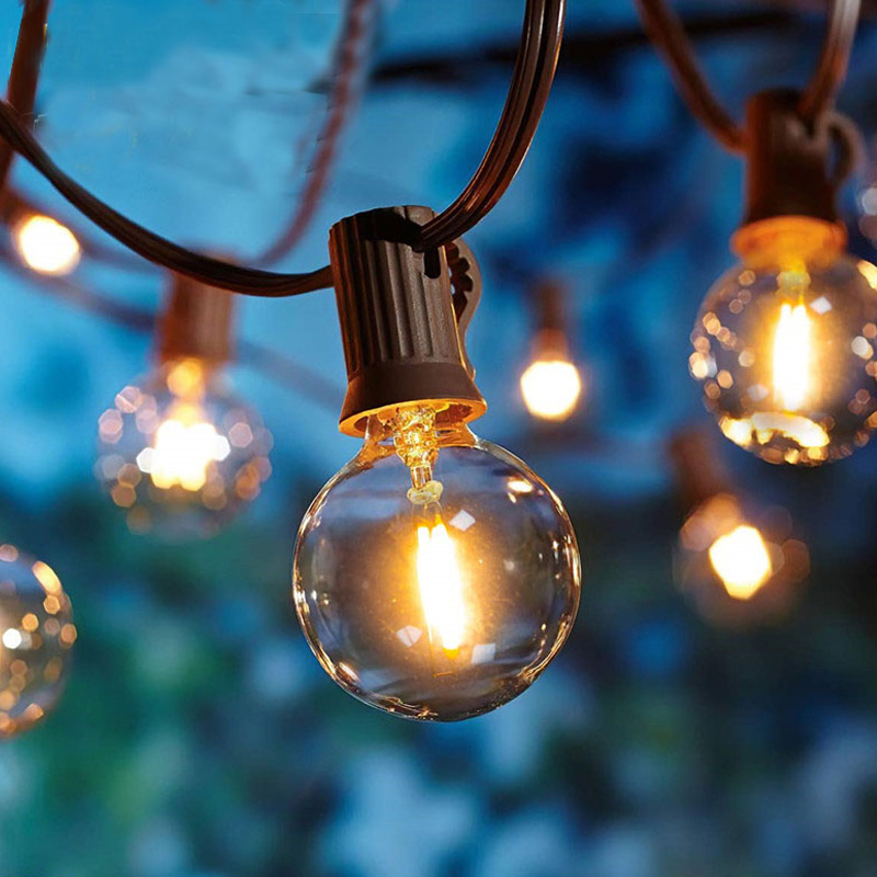 6M LED Globe Ball String Light With 20 Clear Ball Vintage Bulbs Indoor/Outdoor Hanging Umbrella Patio String Lighting EU/US Plug
