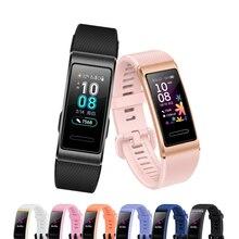 Para huawei banda 4 pro 3 3pro pulseira de silicone pulseira de relógio substituição pulseira de pulso para huawei 3/3 pro acessórios de relógio