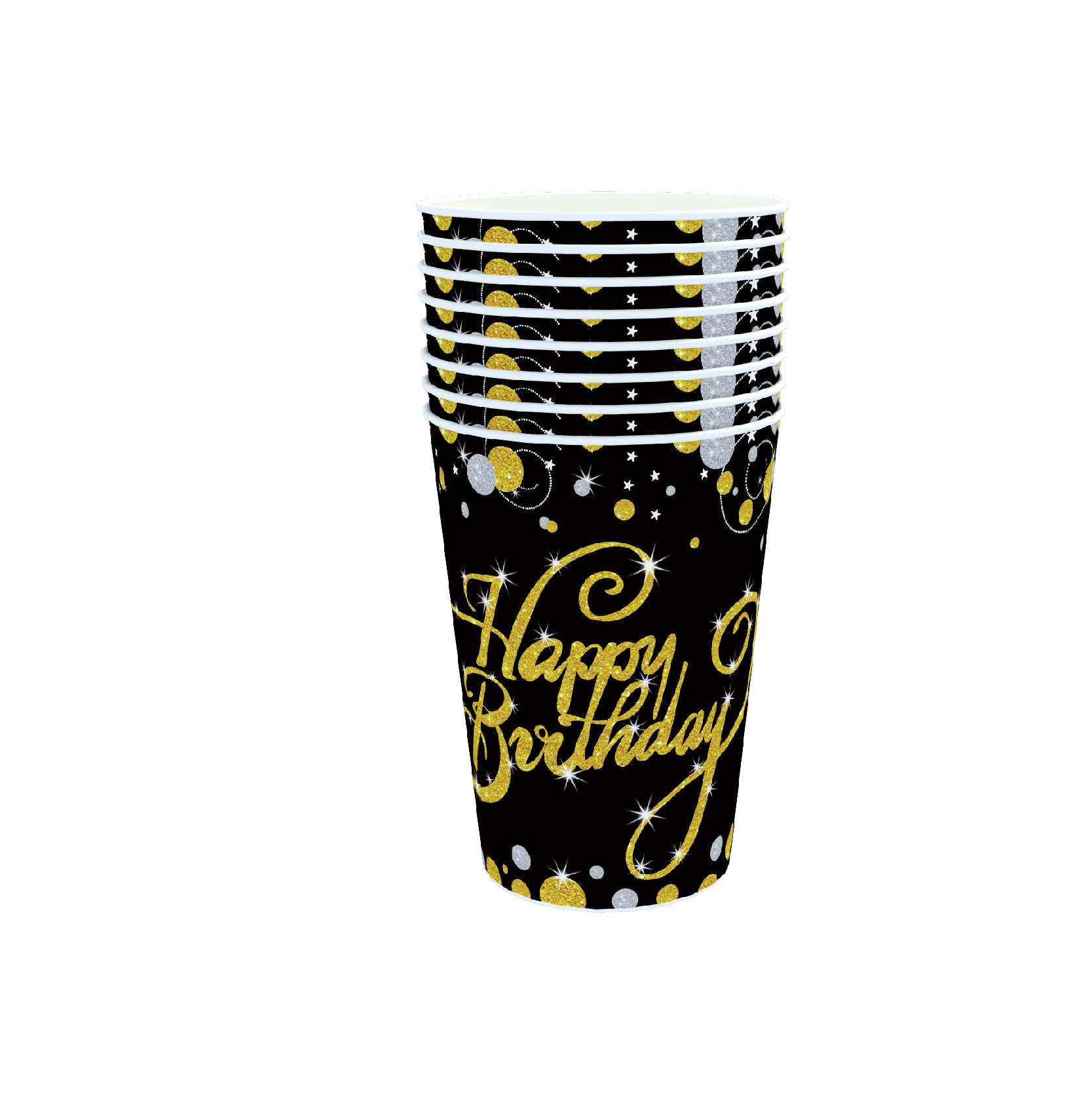 64 шт./компл. тема вечерние одноразовая посуда Бумага пластина салфетка для чашек, товары для свадьбы 40th День рождения украшения