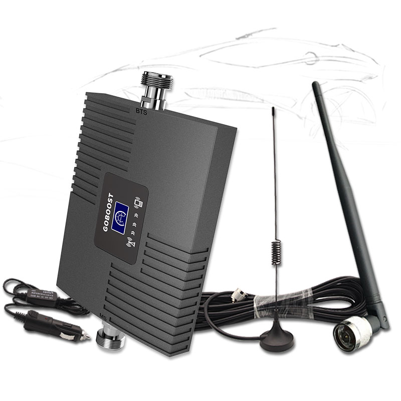 Car Repeater 3G Cellular Signal Booster UMTS 2100 Amplifier 3G Signal Booster Cell Phone Amplifier Anrenna For Vehicle Car Use -
