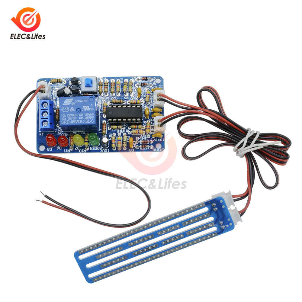1Set Water Level Detection Sensor Liquid Level Controller Module For Automatic Drainage Device Level Controller Board