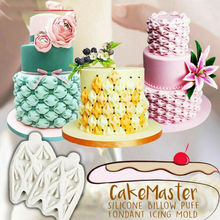 2020 Useful Silicone Flower Lace Fondant Mould Cake Rose Plants Baking Icing Mold Billow Puff Fondant Cake Mould Decorating Tool