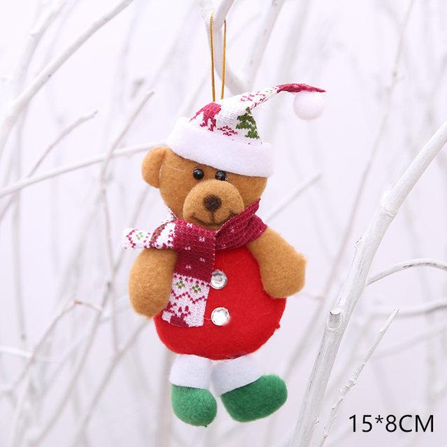 New Year 2020 Cute Santa Claus/Snowman/Angel Christmas Dolls Noel Christmas Tree Decoration for Home Xmas Navidad 2019 Kids Gift 60