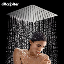 12 Inch Rain Shower Head 30cm*30cm Square Stainless Steel Ultra Thin Rainfall Shower Head Not Includes Shower Arm
