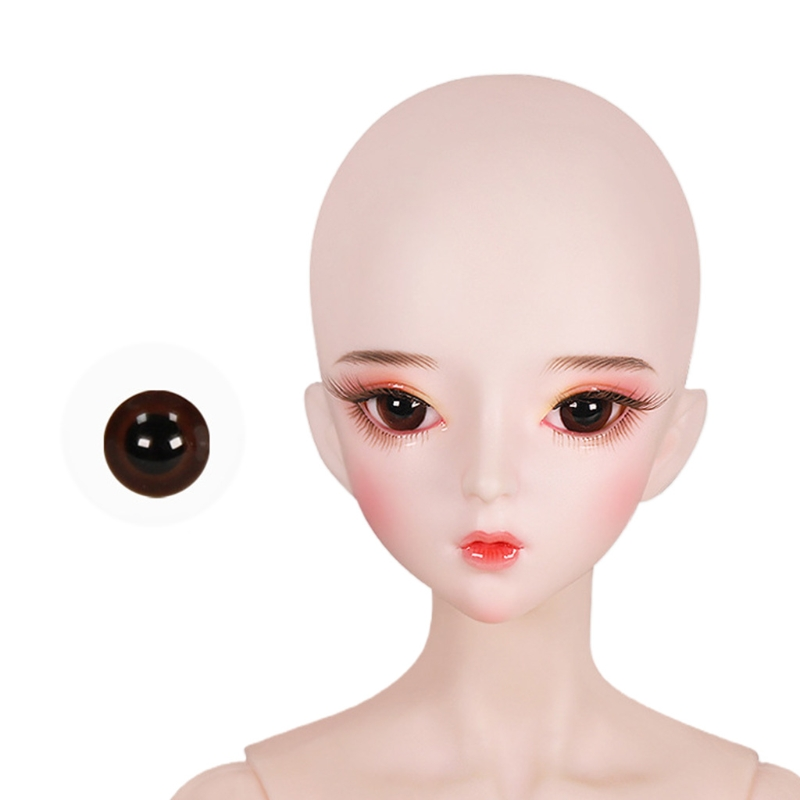 For Bjd Eyeball 14mm Glass Material Green Blue Eyes Suitable For 1/3 1/4 Doll Accessories 20