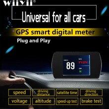 OBD2 HUD T800 pantalla frontal de coche, velocímetro GPS, Ordenador de conducción inteligente, localización por satélite, Universal de velocidad