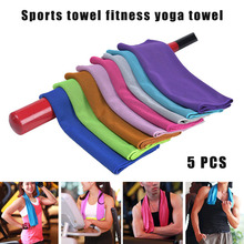 Newly 5 Pcs Cooling Towel Quick Drying Breathable for Sports Fitness Yoga Swimming Travel 19ing